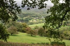Landscape image of view from Precipice Walk in Snowdonia overloo stock image