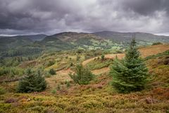 Landscape image of view from Precipice Walk in Snowdonia overloo. Beautiful landscape image of view from Precipice Walk in Snowdonia overlooking Barmouth and royalty free stock image