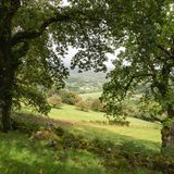 Landscape image of view from Precipice Walk in Snowdonia overloo royalty free stock photos