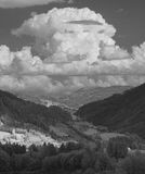 Landscape In Infrared Light Royalty Free Stock Photos