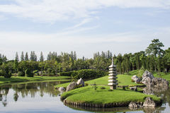 Landscape In The Japanese Garden. Royalty Free Stock Images