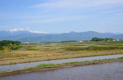 Landscape of Ina basin, Nagano, Japan Royalty Free Stock Photo