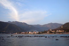 Landscape. From India. Ganga river & Himalaya mountain. Rishikesh Stock Photo
