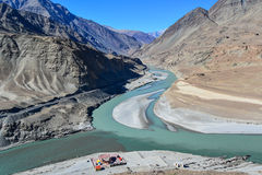 Landscape in India. This is a photo of Indus River view in India Royalty Free Stock Photography