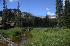 Landscape of Indian Peaks Wilderness Stock Photo