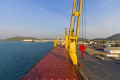 Landscape industry ship port Royalty Free Stock Image