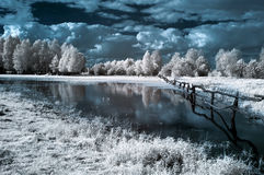 Landscape in the infrared Royalty Free Stock Images