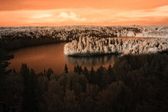 Landscape in Infrared Image Royalty Free Stock Photos