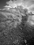 Landscape in infrared light Stock Photo