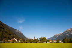 Landscape of Interlaken. Landscape with town of Interlaken, Switzerland royalty free stock photos