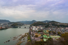 Landscape of inuyama city view with kiso river Stock Image