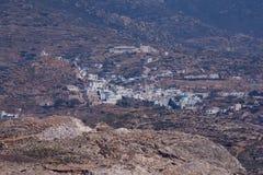 Landscape of Ios island in Aegean sea, Greece Stock Photos
