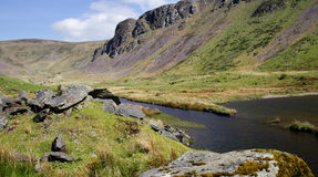 Landscape in Ireland with stream and mountains Royalty Free Stock Photography