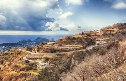 Landscape of  Ischia island in Italy Royalty Free Stock Image