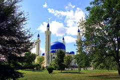 Landscape with Islam temple of the South Russia Royalty Free Stock Images