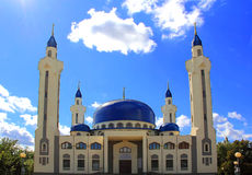 Landscape with Islam temple of the South Russia. Summer landscape with Islam temple of the South Russia Royalty Free Stock Photography