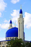 Landscape with Islam temple of the South Russia. Summer landscape with Islam temple of the South Russia Royalty Free Stock Image