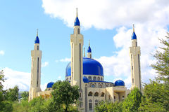 Landscape with Islam temple of the South Russia Royalty Free Stock Photo