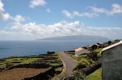 Landscape of the island. Azores, Portugal Stock Photos