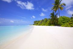 Landscape of Island Beach Royalty Free Stock Photos