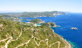 Landscape on the island of Corfu, Greece, Europe Royalty Free Stock Images
