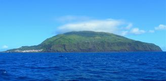 Landscape of the island of Corvo. Azores, Portugal. Small Portuguese island in the middle of the Atlantic Royalty Free Stock Photos