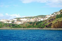 Landscape of the island of Corvo. Azores, Portugal Royalty Free Stock Photo
