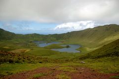 Landscape of the island of Corvo. Azores, Portugal. Small Portuguese island in the middle of the Atlantic Stock Photography