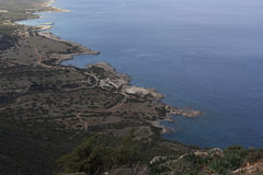 Landscape on the island of Cyprus. Royalty Free Stock Image