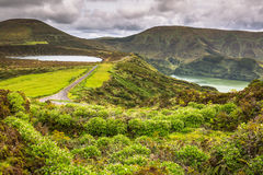 Landscape of the island of Flores. Azores, Portugal Stock Image