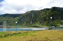Landscape of the island of Flores. Azores, Portugal. Lagoon of the island of Flores. Azores, Portugal Stock Photography