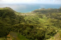 Landscape of the island of Flores. Azores, Portugal Stock Photography