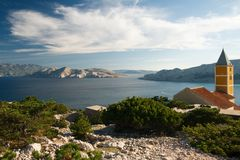 The landscape on the island of Krk Stock Image