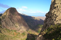 Landscape of the island of La Gomera Royalty Free Stock Images