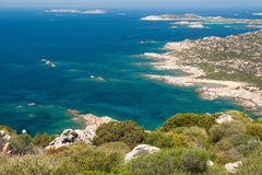 Landscape island La Maddalena. View of the coast of La Maddalena Island in Sardinia Royalty Free Stock Image