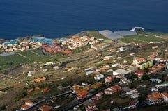 Landscape of the island La Plama from Volcano San Antonio, Fuenc Stock Photo