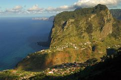 Landscape in the island of Madeira. On the northern shore royalty free stock photos