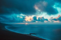 ocean landscape sunset Royalty Free Stock Photography