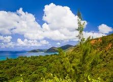 Landscape of island Praslin, Seychelles Royalty Free Stock Image