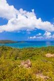 Landscape of island Praslin - Seychelles Stock Images
