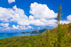 Landscape of island Praslin - Seychelles Royalty Free Stock Photos