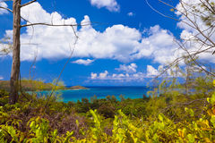 Landscape of island Praslin - Seychelles Royalty Free Stock Images