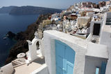 Landscape of island Santorini Royalty Free Stock Images