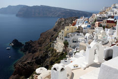 Landscape of island Santorini Stock Images