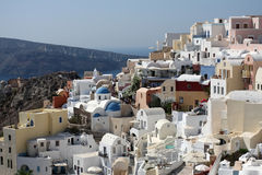 Landscape of island Santorini, Greece Stock Image