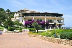 Sardinia. Italy. The landscape of the island of Sardinia (Italy).The hotel is on the sea shore Stock Photos