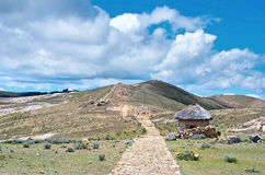 Landscape on Island of the Sun on Titicaca lake. Royalty Free Stock Photography