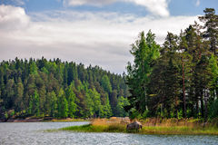 Landscape with islands in finland gulf Royalty Free Stock Image