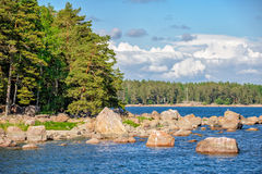 Landscape with islands in finland gulf Stock Images