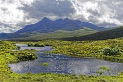 Landscape of the Isle of Skye Stock Photography